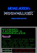 Michael Jackson's Moonwalker Arcade Title Screen.