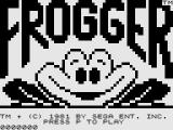 Frogger ZX81 Title Screen.