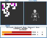 Dungeon of Nadroj Amiga You encounter a skeleton