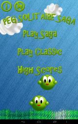 Peg Solitaire Saga Android Title screen