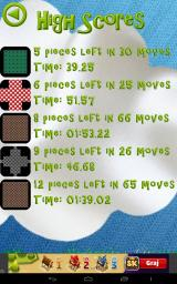 Peg Solitaire Saga Android The list of our high scores.