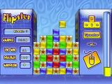 Flipster Windows Playing a game in Puzzle mode, easy setting. This is the one of the special levels. The player must remove the blocks between the stars so that they join up and disappear