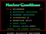 Nuclear Countdown ZX Spectrum Main menu