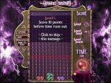 Crystal Wizard Windows The start of the main game. Objectives are clearly defined at the beginning and the first few levels are really easy to accustom the player to the game mechanics