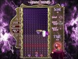 Crystal Wizard Windows The game quickly becomes more difficult, here at level three the player can only complete the level by bouncing a purple ball off a side wall onto the purple cross