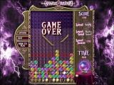Crystal Wizard Windows SWANK is another timed bonus level but with ramps to make attaining a high score difficult. Here the game has ended because the stack has breached the floodline