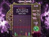 Crystal Wizard Windows HEAVE is a timed bonus level in which the player must cover the coloured X's.