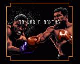 3D World Boxing  Amiga Title Screen