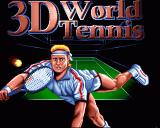 I Play: 3D Tennis Amiga Title Screen