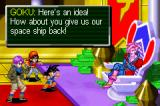 Dragon Ball GT: Transformation Game Boy Advance Dialogue with enemy