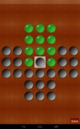 Peg Solitaire Android On this board, the last peg must be left in the middle hole.