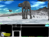 Star Wars: Force Commander Windows Battle on Hoth. Rebels attempt to entangle a walker with a cable.