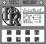 Baseball Stars Neo Geo Pocket Select team