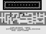 Pac Rabbit ZX81 Title Screen.