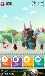 Pocket Wizard: Magic Fantasy! Android A new hot pink outfit and a cats and birds agreeing to attack you together.