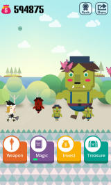 Pocket Wizard: Magic Fantasy! Android A troll approaches!