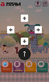 Pocket Wizard: Magic Fantasy! Android The magic input screen - certain directional inputs will release a powerful magic.