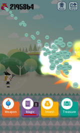 Pocket Wizard: Magic Fantasy! Android A lot of monsters killed = a lot of coins.