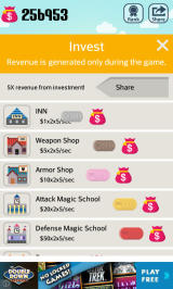 Pocket Wizard: Magic Fantasy! Android Greater returns on investment from getting another user to play.