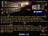 Nebula Fighter Windows The first page of the game's backstory