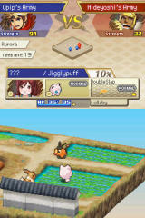 Pokémon Conquest Nintendo DS Basic combat set up
