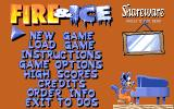 Fire & Ice DOS 1995 shareware re-release by StreetWise Interactive - Main menu