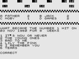 Test Your Knowledge of Pop Music ZX81 Correct.