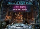 House of 1000 Doors: Family Secrets (Collector's Edition) Windows Title and main menu