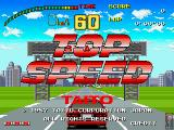 Top Speed Arcade Title Screen.