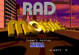 Rad Mobile Arcade Title Screen.