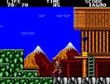 Danan the Jungle Fighter SEGA Master System Nice view of the mountains