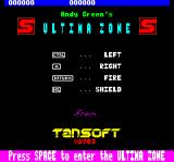 Ultima Zone Oric Title screen