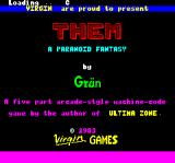 Them: A Paranoid Fantasy Oric Loading screen