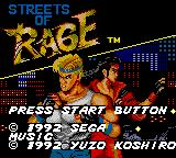 Streets of Rage Game Gear Title