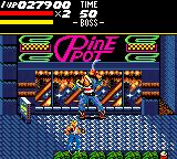 Streets of Rage Game Gear The first boss
