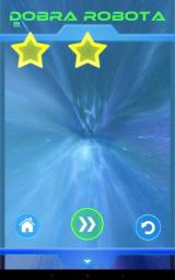 Smash Android End of level, and we receive a rating between 1 and 3 stars.
