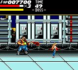 Streets of Rage Game Gear The second boss