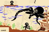 Game & Watch Gallery 4 Game Boy Advance Octopus (Classic; Unlockable)