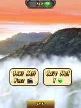 Temple Run 2 iPad I have two choices for revival.