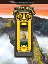 Temple Run 2 iPad I have to pick the right prize by spinning the wheel before reviving.