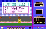 FBI Fred DOS The game starts by asking the player for their initials. Once they are entered the game's main menu is displayed