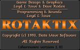 Rotaktix DOS The game's title screen