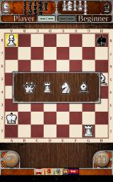 Chess Android Promoting the pawn. At the top of the screen we can see the pieces captured throughout the game.