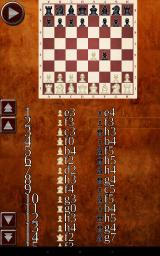 Chess Android A review of the game so far. As you can see, the coordinates display is buggy--the row number is one lower than it should be (as of v1.0.3.)