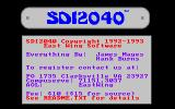 SDI2040 DOS The game is shareware and the game details contain a reminder of this