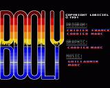 Booly Amiga Title Screen