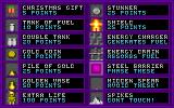 Jetpack Christmas Special DOS These are the items to collect. Even the Extra Life icon looks sort of Christmassy