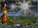 Jewel Match 3 Browser Title and main menu
