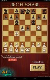 Chess Android Starting screen