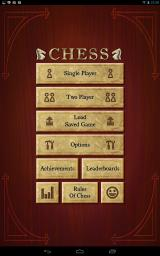 Chess Android Main menu